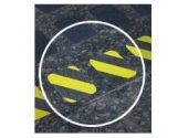 Противоскользящий материал ПТК-Спорт 3305-1 для применения в местах, где есть возможность поскользнуться или есть необходимость выделить эти места другим цветом, 25,4 мм х 18,3 м (цвет: прозрачный)
