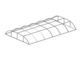 Павильон для бассейна Aluten Standart (двойные секции) 400 х 424 х 70 см