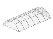Павильон для бассейна Aluten Standart (двойные секции) 350 х 424 х 105 см