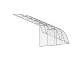 Павильон для бассейна Aluten Standart (стационарная конструкция) 150 х 424 х 300 см