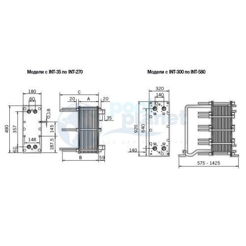 Пластинчатый теплообменник вода/вода из титана AstralPool ETNA-580 мощностью 580000 Ккал/ч