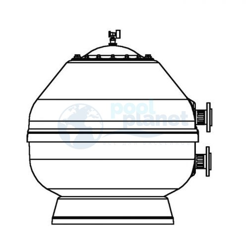 """Фильтр ламинированный Д=900 мм, 32 м³/час, боковое подключение 2½"""", Astralpool Vesubio /15788/"""