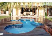 Сборный бассейн Azteck Standart свободной формы, 4х7,3 м, глубина 1,4 м (частично заглубленный)