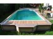 Сборный бассейн Azteck Standart свободной формы, 4х5,6 м, глубина 1,4 м (наземный)