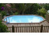 Сборный бассейн Azteck Standart овальный, 4х5,6 м, глубина 1,4 м (закапываемый)