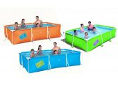 Бассейн BestWay каркасный детский (3,00 x 2,01 х 0,66) (салатовый, оранжевый, голубой) /56222