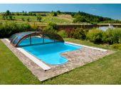 Павильон для бассейна Idealcover Dallas Clear-A, 3 модуля (плексиглас 4 мм). Цвет профилей - серебристый Elox
