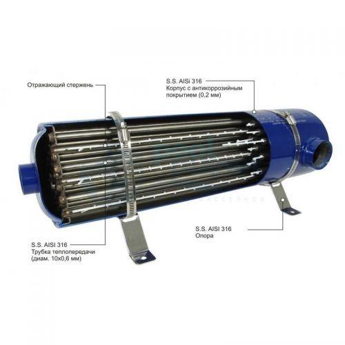 Теплообменник вертикальный Emaux HE,  60 кВт