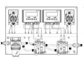 Автоматическая станция дозирования Etatron D.S. и контроля Pool Guard MAX (PH/RX/T/CLtotal/CLfree) Panel (Sonda CL) /QXB9000101ER