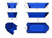 Теплоизоляция Baslux 2 см для модели бассейна Gados