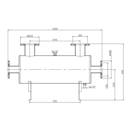 Теплообменник Xenozone 200 кВт (горизонтальный) /ТО.20/