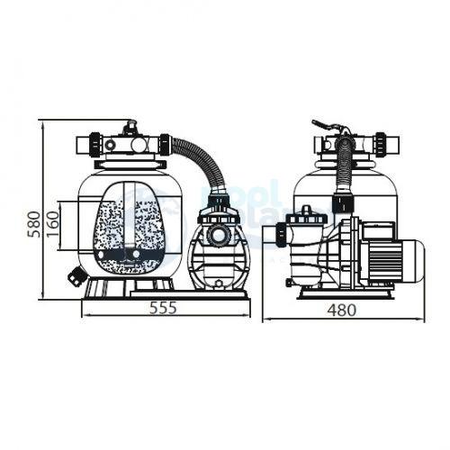 Фильтровальная установка Hayward SPP-350 с насосом Speck
