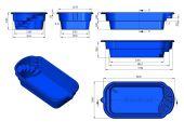 Теплоизоляция Baslux 2 см для модели бассейна Ibiza I