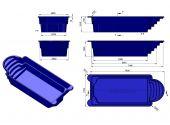 Теплоизоляция Baslux 2 см для модели бассейна Ikaria