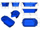 Теплоизоляция Baslux 2 см для модели бассейна Kastos I