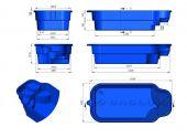 Теплоизоляция Baslux 2 см для модели бассейна Kreta