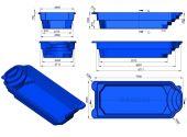 Теплоизоляция Baslux 2 см для модели бассейна Lindos