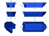 Теплоизоляция Baslux 2 см для модели бассейна Madera
