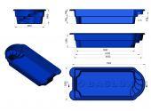 Теплоизоляция Baslux 2 см для модели бассейна Martynika