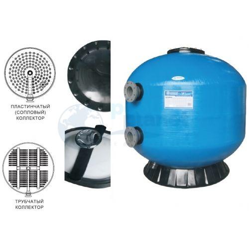 Фильтр для общественных бассейнов шпульной навивки Minder F1600, d=1600 мм, 80 м3/ч. Трубчатая распредсистема, подключение 110 мм, со сливным патрубком. Без дополнительных опций, без обвязки.