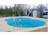 """Сборный бассейн MTH Sunny Pool в форме """"8"""" MTH Sunny Pool 5,25 м х 3,2 м, глубиной 1,2 метра со стенками из высококачественной стали толщиной 0,8 мм"""