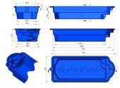 Теплоизоляция Baslux 2 см для модели бассейна Naksos