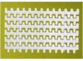 Переливная решетка Netta Grift с двойным соединением, размер 300 x 25 мм, цвет белый