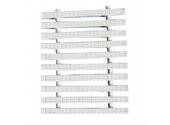 Переливная решетка Aquaviva Classik с двойным соединением, размер 200 x 25 мм, цвет белый