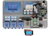 """Система измерения и регулирования Cl, PH, Rx """"OSF WaterFriend exclusiv MRD-3"""", с тремя дозировочными насосами, штангами и клапаном впрыска"""