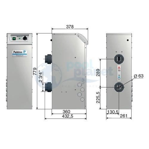 Водонагреватель 72 кВт (4х18), 380V Pahlen Midi Heat, ТЭН титан / 1512072T/