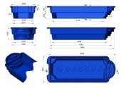 Теплоизоляция Baslux 2 см для модели бассейна Paros