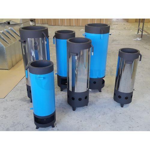 """Переносной нагреватель воды бассейна на твёрдом топливе """"Пеллетрон-D2"""", 2 м3 / 30 мин / 10°C"""