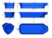 Теплоизоляция Baslux 2 см для модели бассейна Rineja