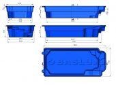 Теплоизоляция Baslux 2 см для модели бассейна Rodos