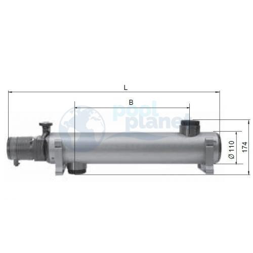 Теплообменник Thermotip трубчатый керамический автоматизированный 75 кВт (EVO 600 EQ)