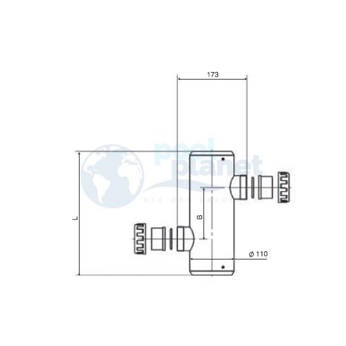 Теплообменник Thermotip трубчатый керамический 108 кВт (EVO 800)