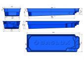 Теплоизоляция Baslux 2 см для модели бассейна Tinos