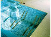 Двухполосный лежак воздушного массажа для бетонного бассейна, Aisi 304 VagnerPool