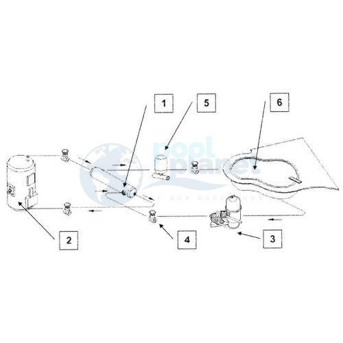 Теплообменник VagnerPool OVB 250, 73 кВт, (64 000 кКал.)