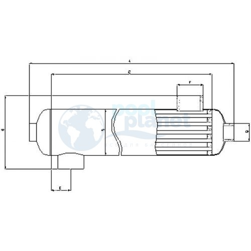 Теплообменник VagnerPool OVB 70, 20 кВт, (17 000 кКал.)