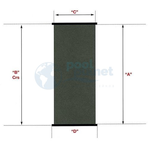 Солнечный коллектор VagnerPool SC 1,2 м x 2,4 м – площадь 2,88 м2