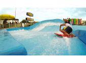 """Генератор искусственной волны для серфинга Curl c закручиванием потока в """"трубу"""". 12 х 10 метра, подъём 2 м, 330 кВт"""
