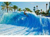 """Генератор искусственной волны для серфинга Barrel c мощным закручиванием потока в """"трубу"""". 18 х 15 метра, подъём 2,5 м, 440 кВт"""