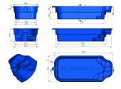 Теплоизоляция Baslux 2 см для модели бассейна Zakintos