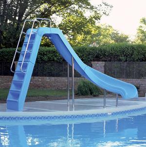 Горки для бассейнов с поворотом Велес