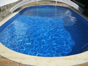 Пленка для бассейна пвх голубая рулоны